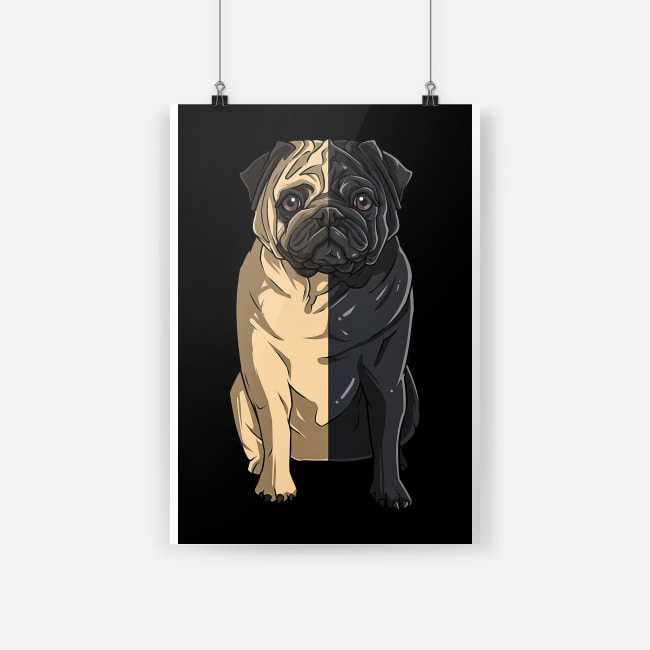 Pug love poster Poster A4 (210 x 297mm)