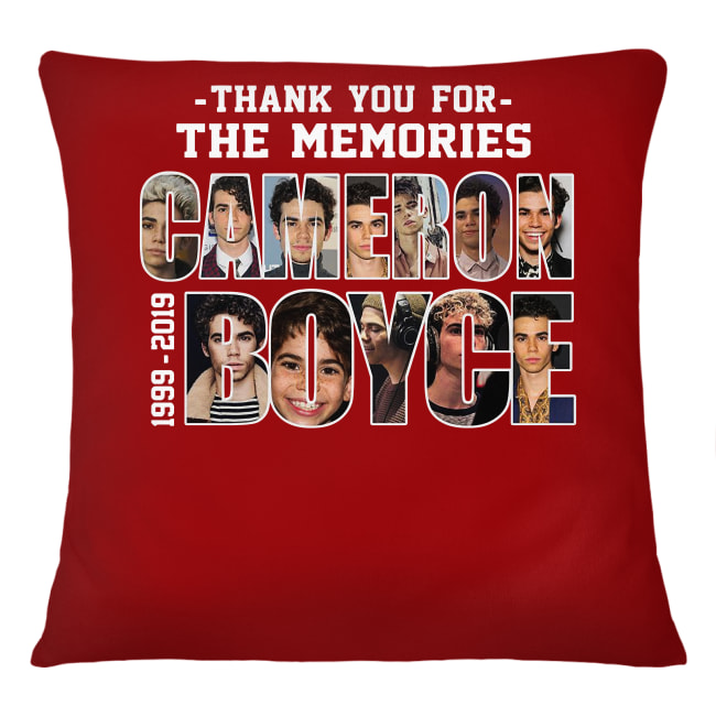 Thank you for the memories Cameron Boyce 1999-2019 signature shirt cushion (square)