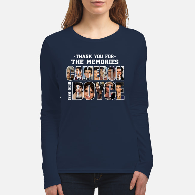 Thank you for the memories Cameron Boyce 1999-2019 signature shirt women's long sleeved t-shirt