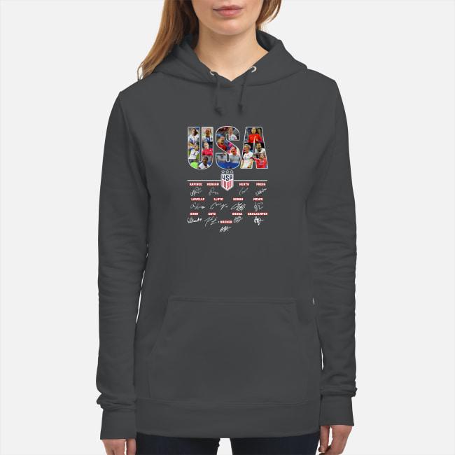 USA Women's Soccer World Cup Championship signature shirt women's hoodie