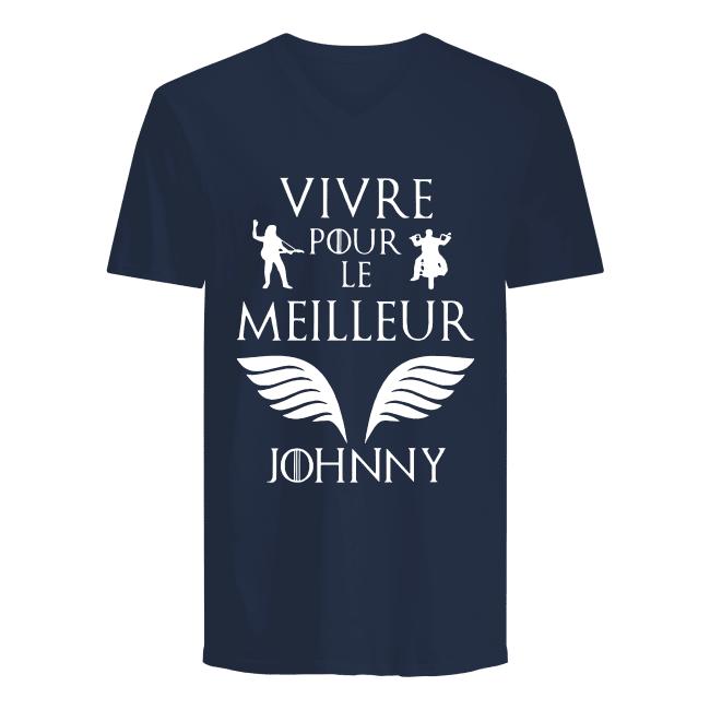 Vivre pour le meilleur Johnny shirt men's v-neck