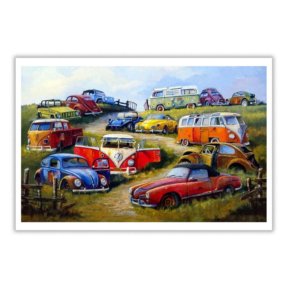 Volkswagen Painting Bugs And Things poster