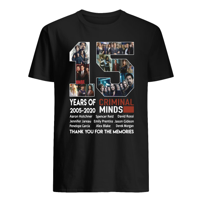 15 years of Criminal Minds 2005-2020 Thank you for the memories shirt classic men's t-shirt