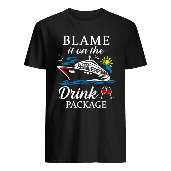 Boat Blame it on the drink package shirt classic men's t-shirt