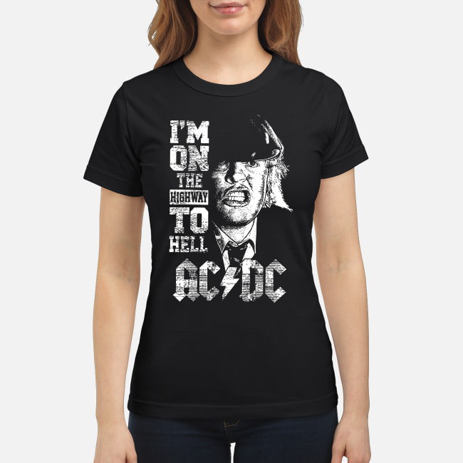 I'm On The Highway to Hell AC DC shirt classic women's t-shirt