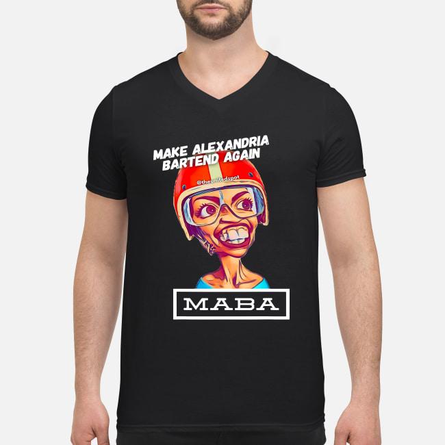 MABA Make Alexandria Bartend Again shirt men's v-neck t-shirt