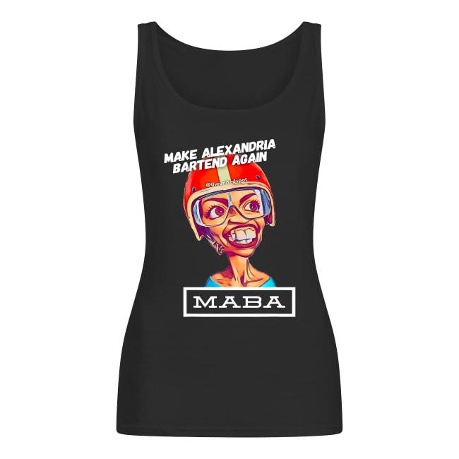 MABA Make Alexandria Bartend Again shirt women's tank top
