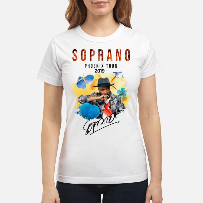 Soprano Phoenix tour 2019 signature shirt classic women's t-shirt