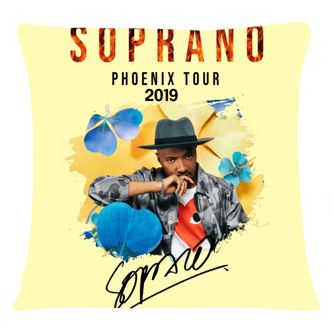 Soprano Phoenix tour 2019 signature shirt cushion (square)