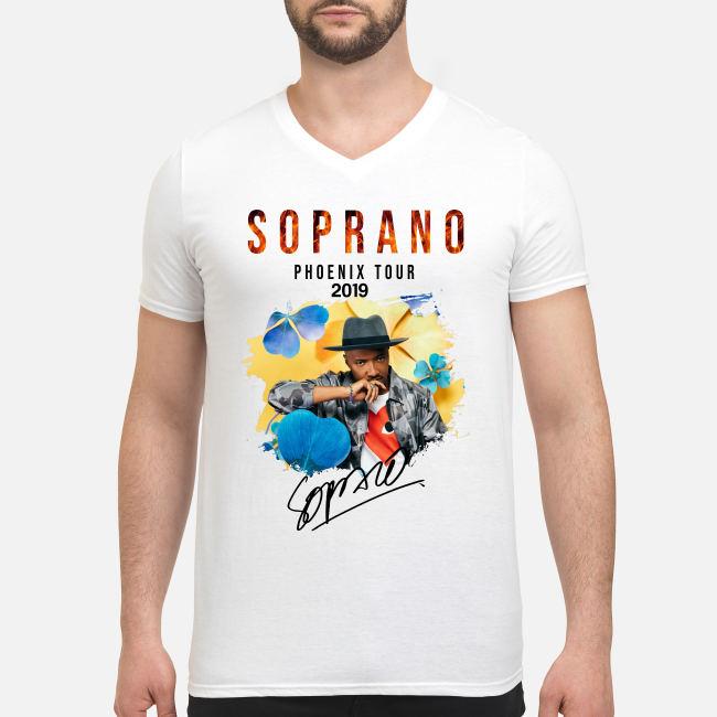 Soprano Phoenix tour 2019 signature shirt men's v-neck t-shirt