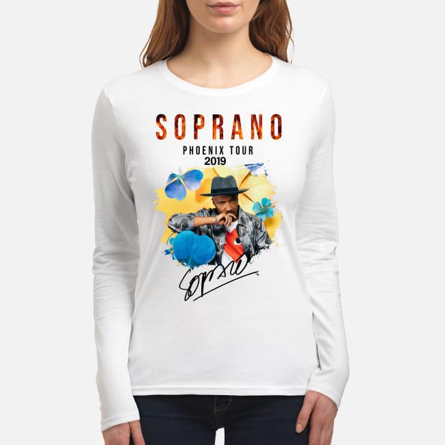 Soprano Phoenix tour 2019 signature shirt women's long sleeved t-shirt