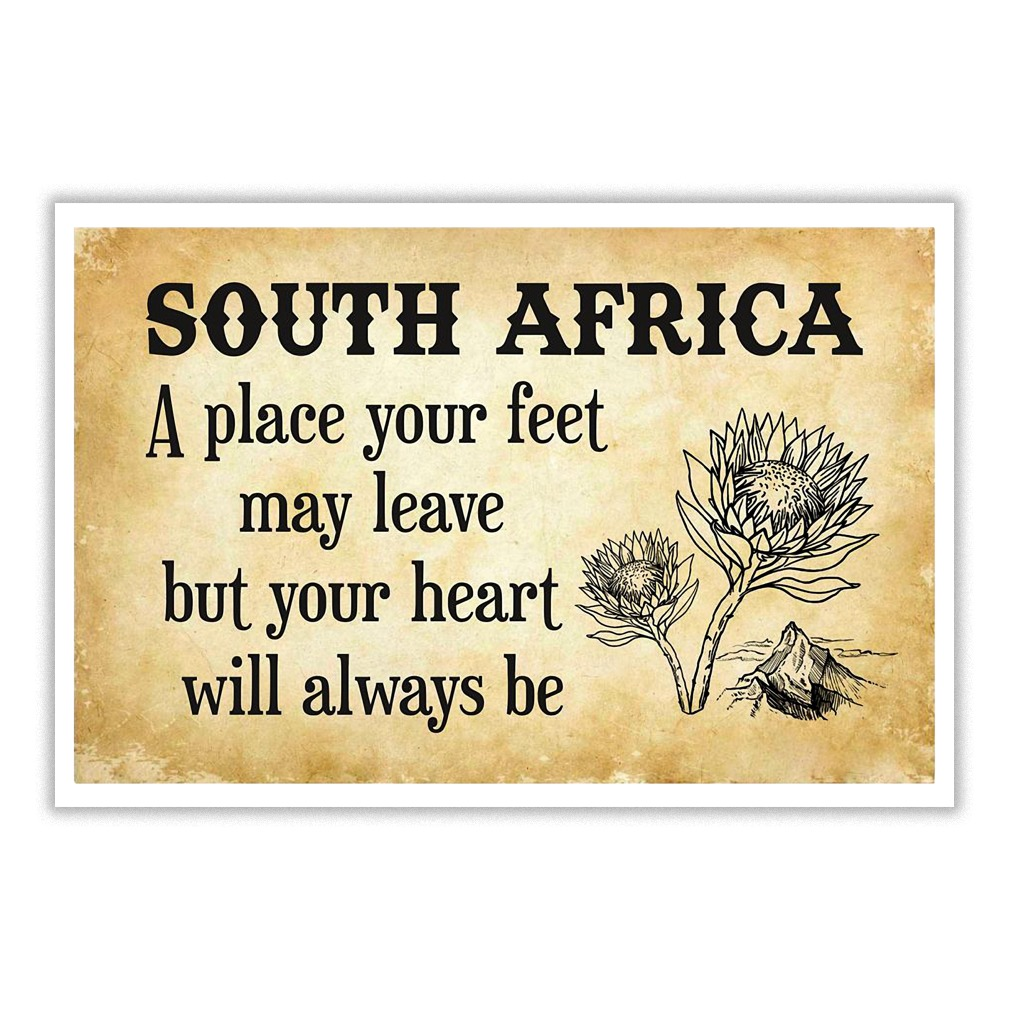 South Africa a place your heart will always be poster
