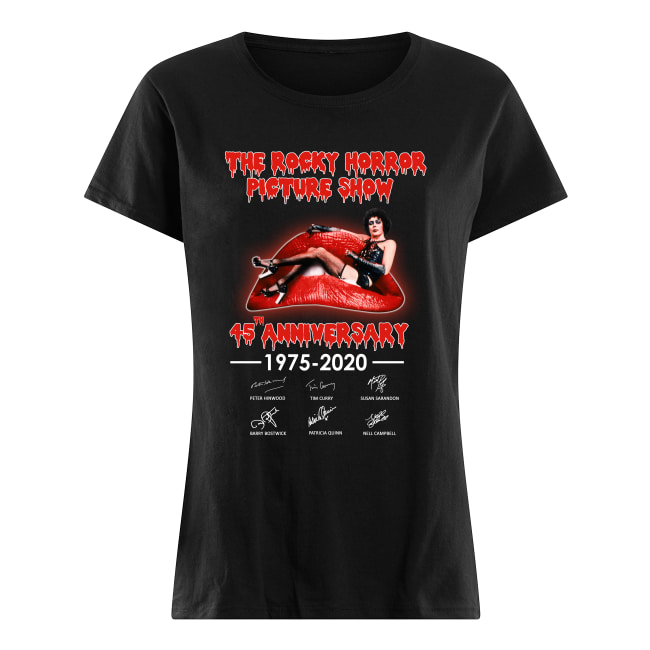 The Rocky horror picture show 45th anniversary shirt classic women's t-shirt