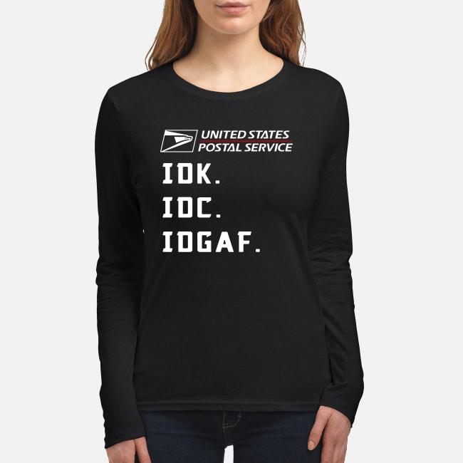United States Postal Service IDK IDC IDGAF shirt women's long sleeved t-shirt