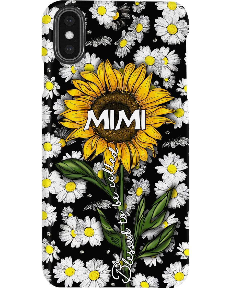 Blessed to be called mimi - Sunflower art Phone Case phone case