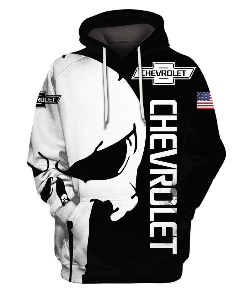 Chevrolet Skull 3D All Over Printed hoodie hoodie