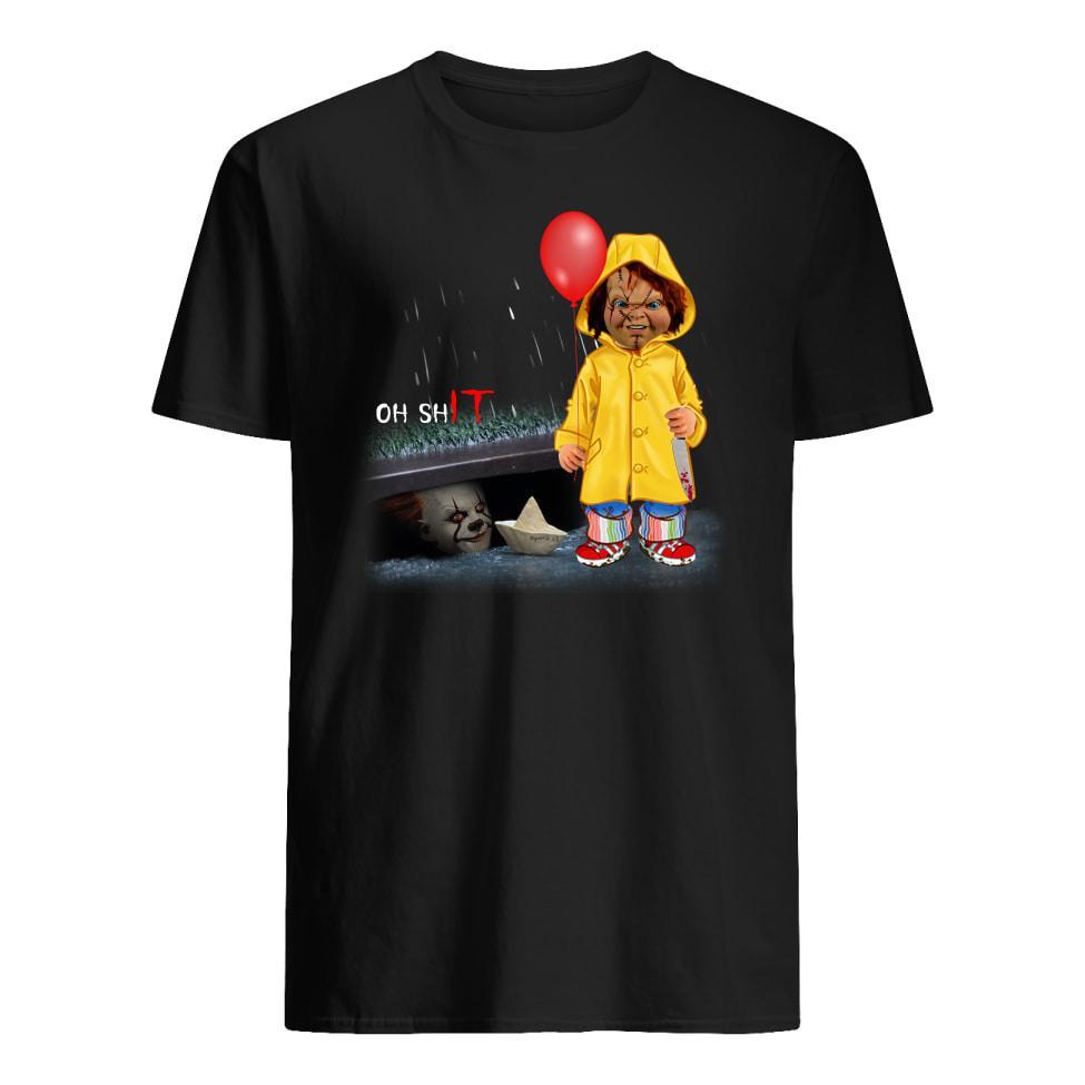 Chucky Georgie Denbrough Pennywise oh shit IT shirt men's t-shirt