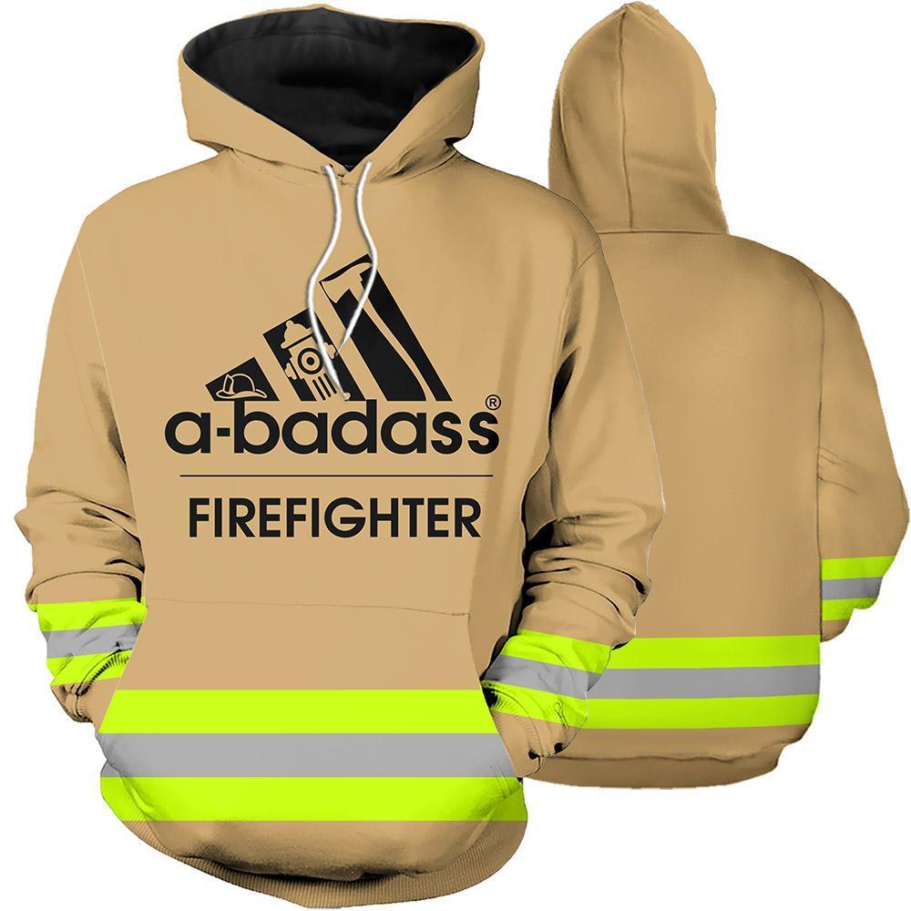 Firefighter Skull Fire Dept 3D Full Printing hoodie abadass green line