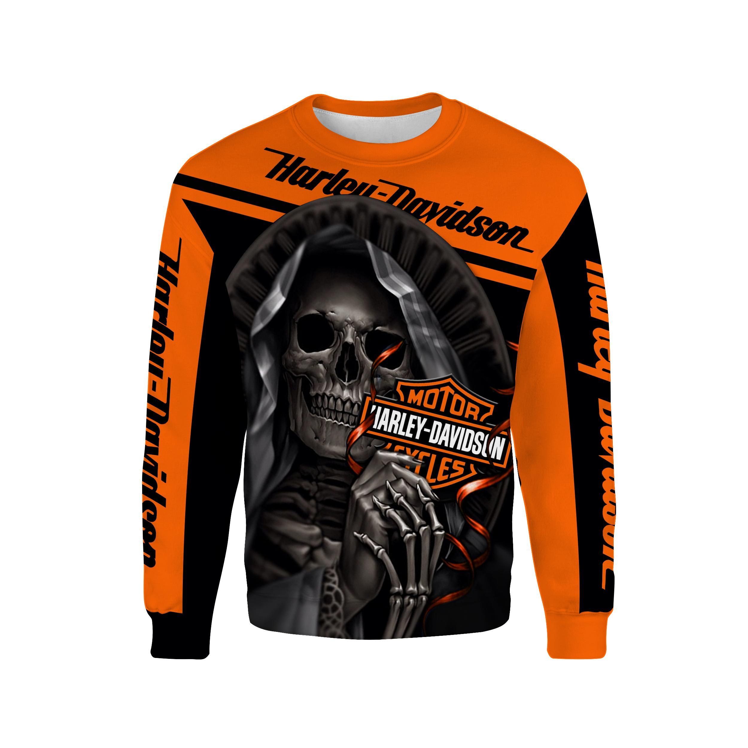 Harley-Davidson Motorcycle Skull 3D Full Over Print shirt sweatshirt