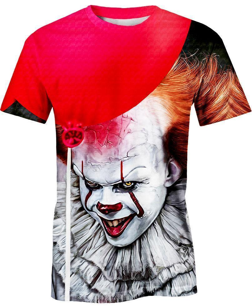 IT 2 Pennywise 3D All Over Printed shirt t-shirt