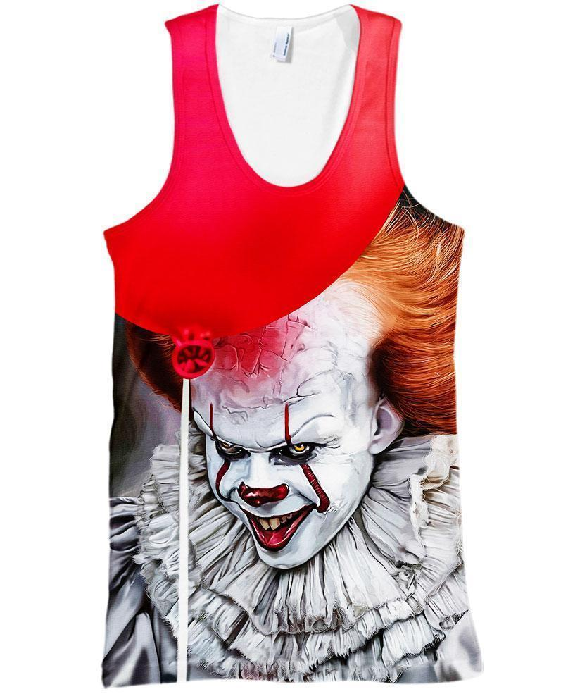 IT 2 Pennywise 3D All Over Printed shirt tank