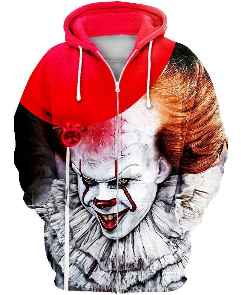 IT 2 Pennywise 3D All Over Printed shirt zip