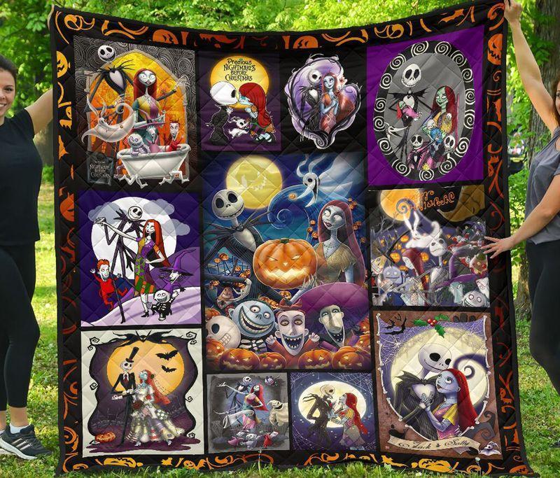 Jack Skellington and Sally Halloween Quilt full