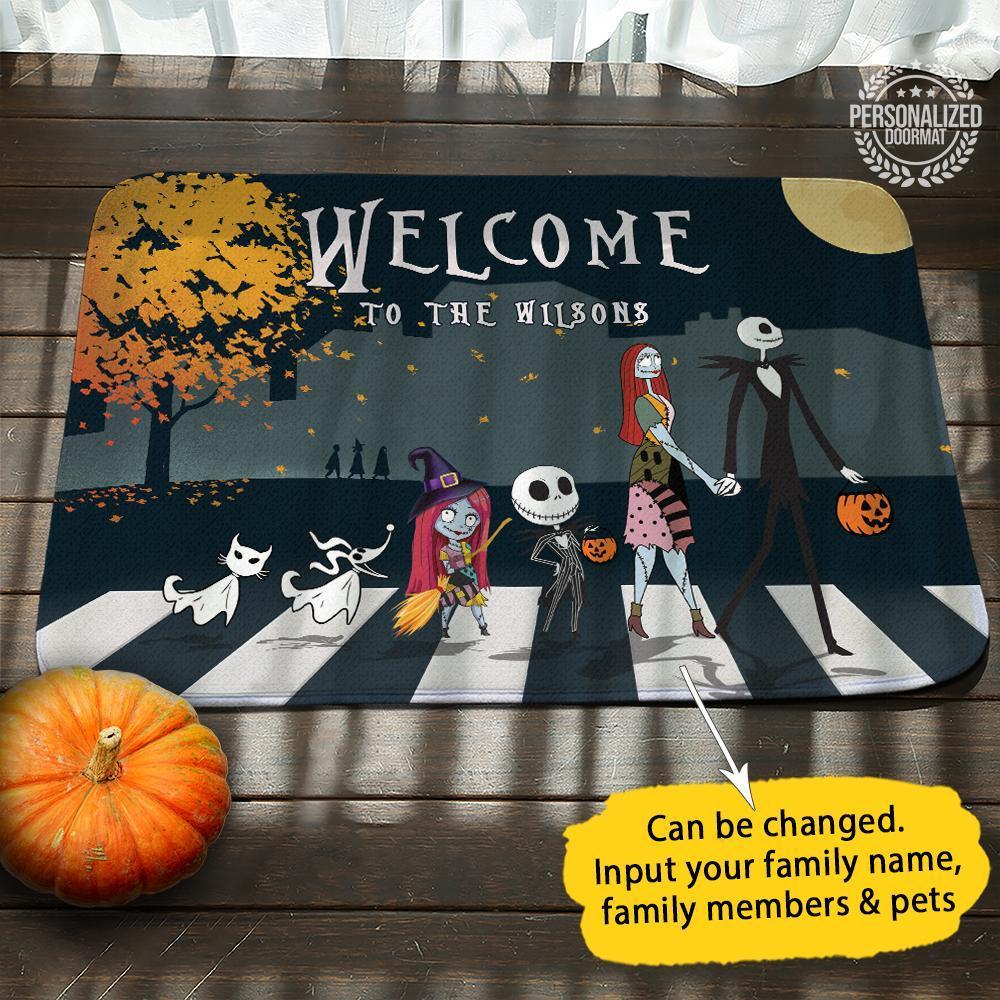 Jack Skellington and Sally Welcome doormat