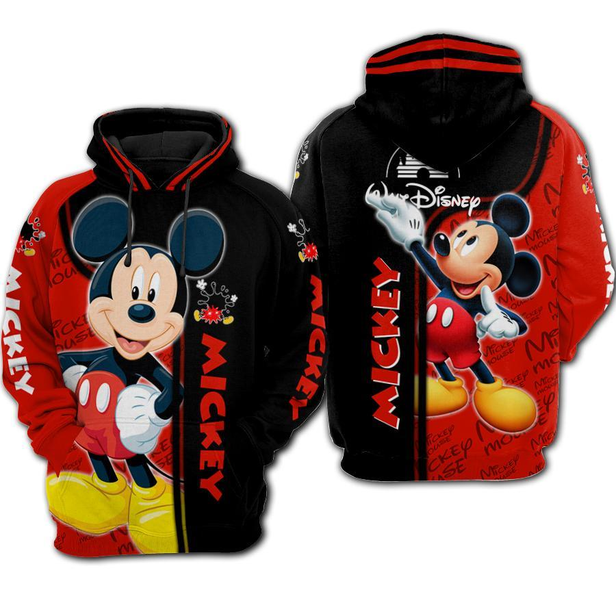 Mickey Mouse Walt Disney 3D All Over Printed shirt mickey zip-up hoodie