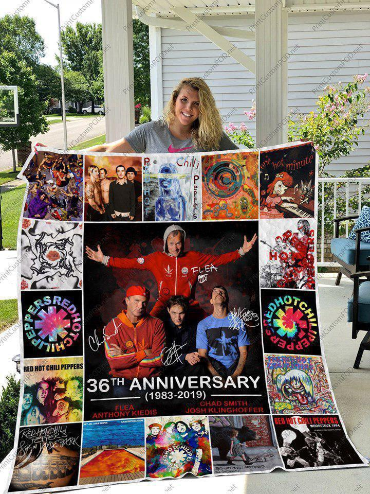 Red Hot Chili Peppers 36th Anniversary Quilt Blanket full