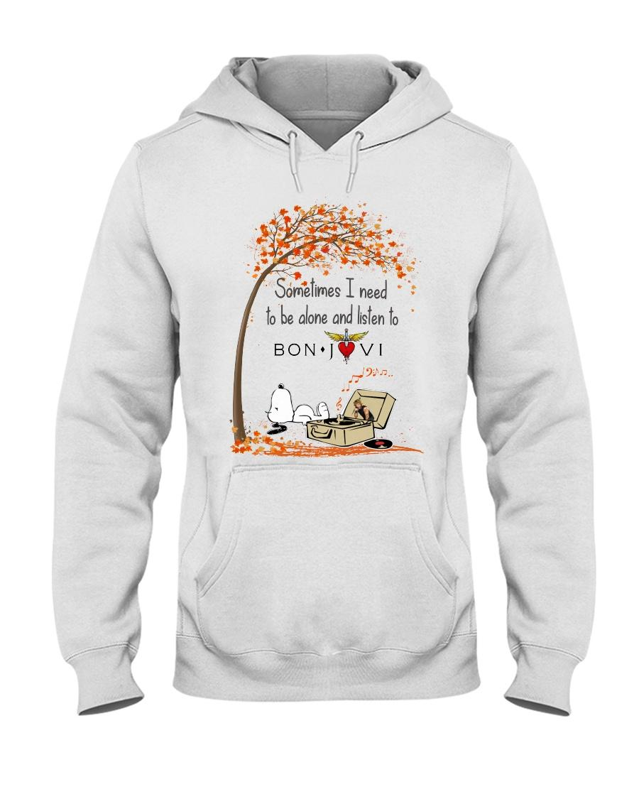 Snoopy Sometimes i need to be alone and listen to Bon Jovi shirt hooded sweatshirt