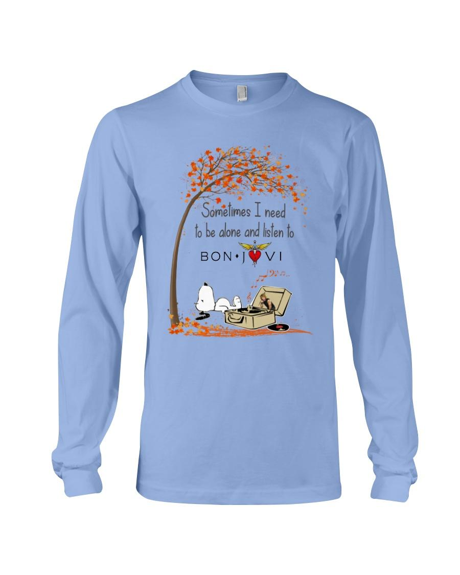 Snoopy Sometimes i need to be alone and listen to Bon Jovi shirt long sleeve tee