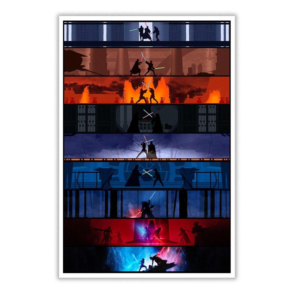 Star Wars Lightsaber Battle Poster