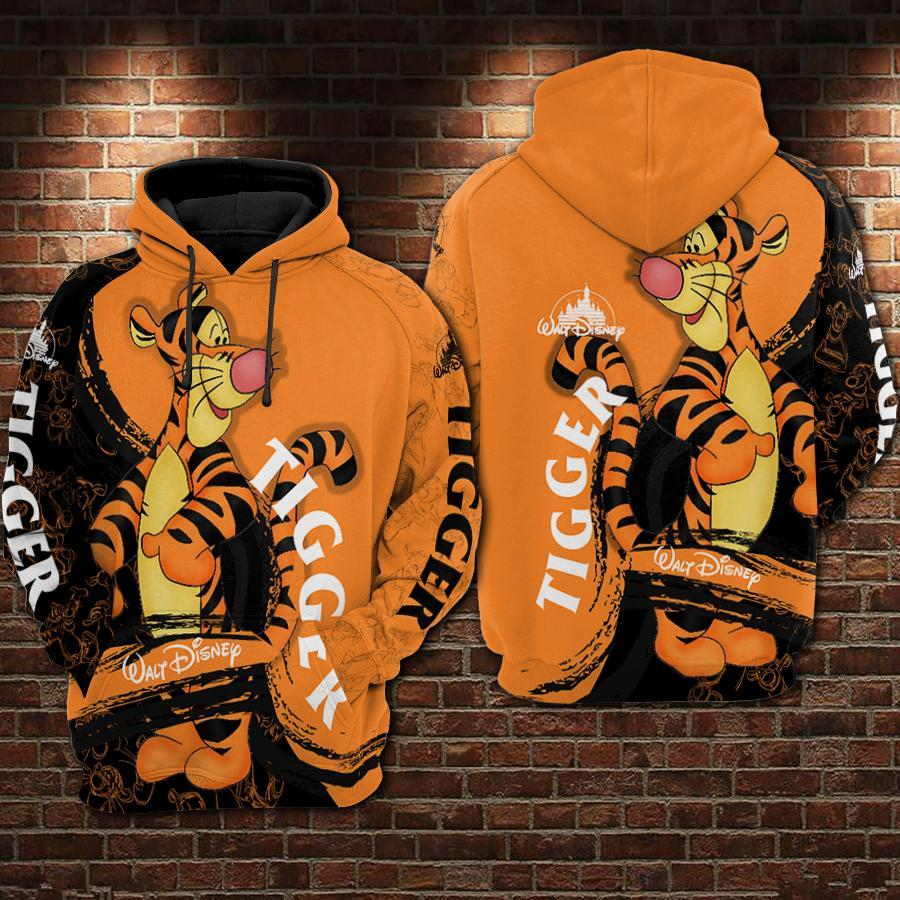 Tigger Winnie The Pooh Walt Disney 3D All Over Printed shirt hoodie - tigger hoodie