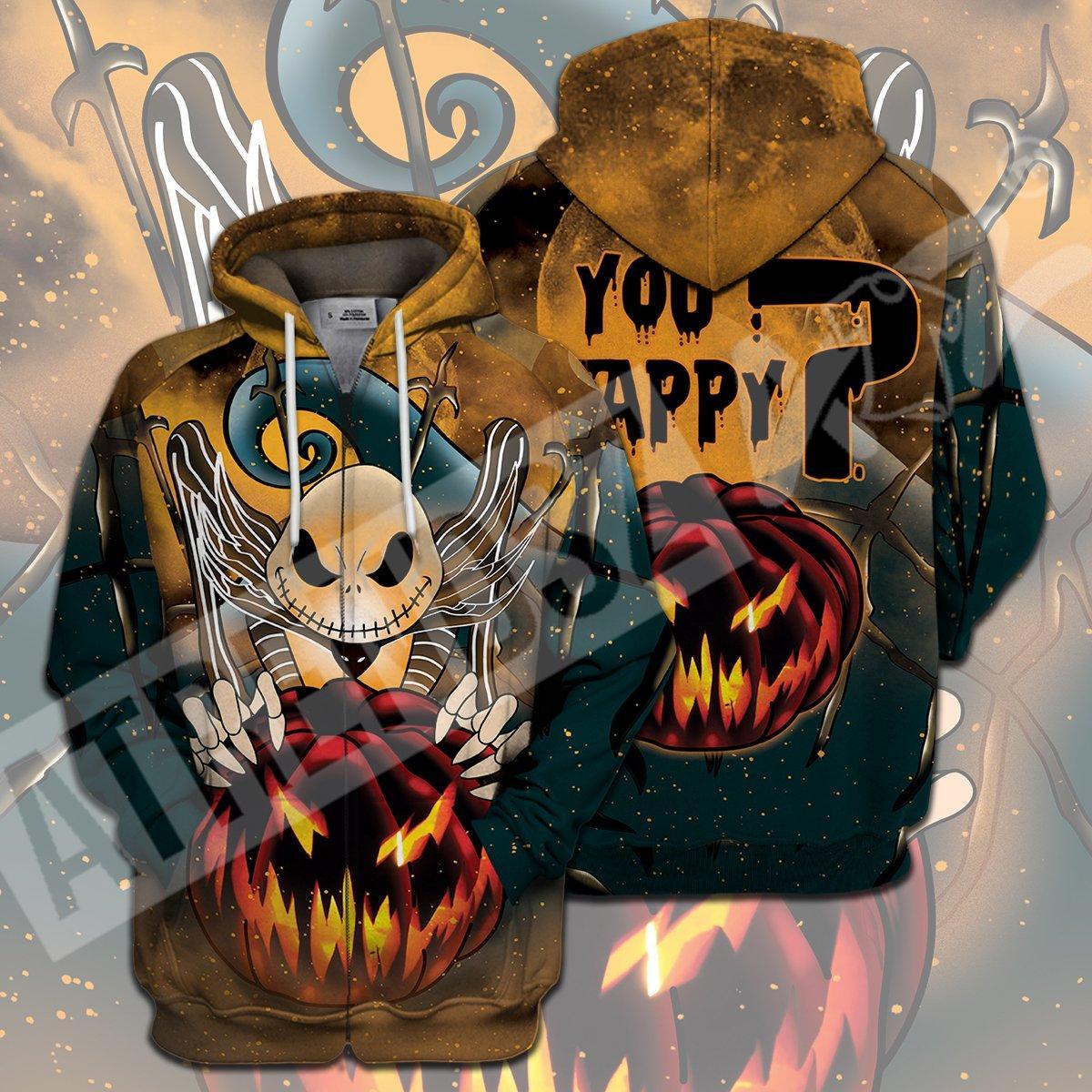 You Happy - Jack Skellington Halloween 3D All Over Printed shirt ziphoodie