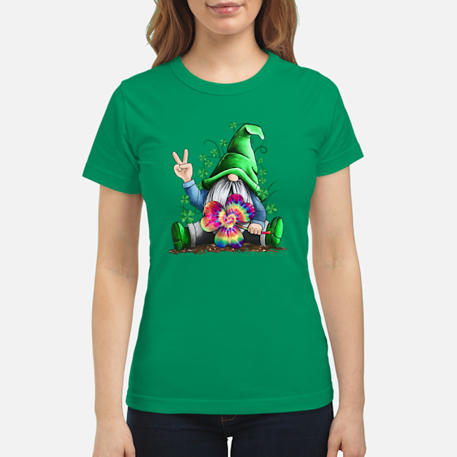 Hippie Gnome Happy St Patrick's Day shirt classic women's t-shirt