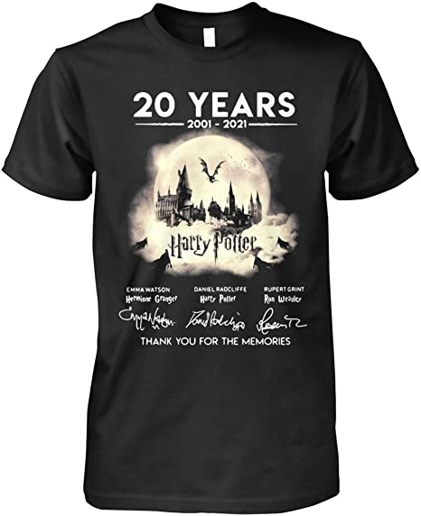 ANDIEZ 20 Years 2001-2021 Harry Pöttér Thank You for The Memories Shirt