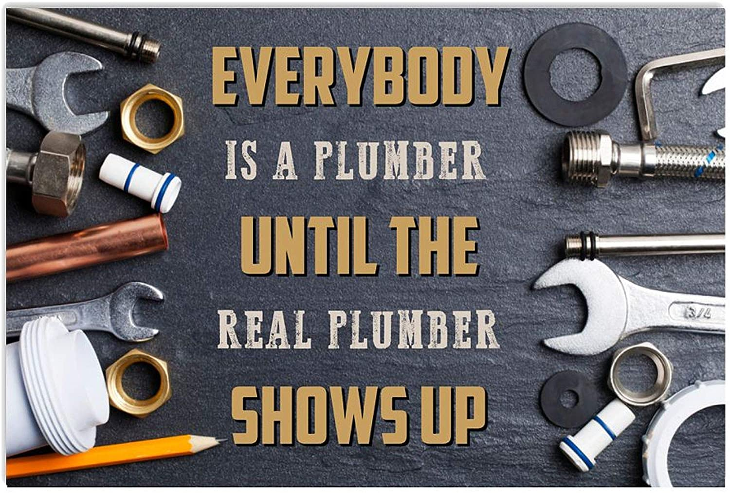 ANDIEZ Everybody is A Plumber Real Plumber Shows Up Poster