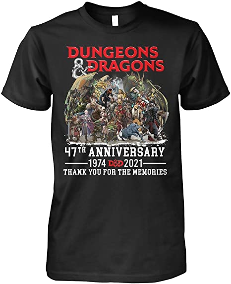 MINZY DND Gamer Gaming 47Th Anniversary 1974-2021 Thank You for The Memories Shirt