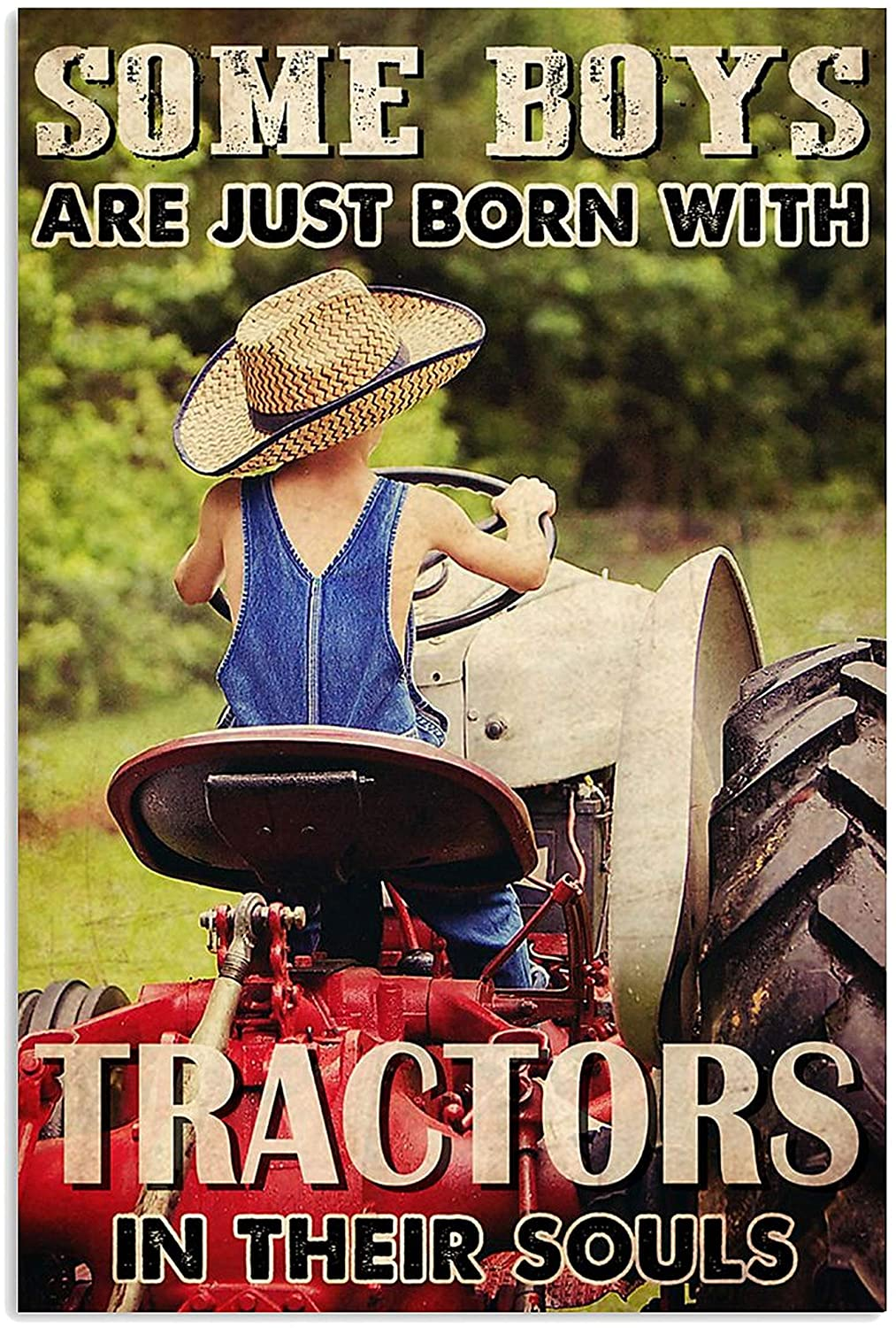 MINZY Some Boys are Just Born with Tractors in Their Souls Poster