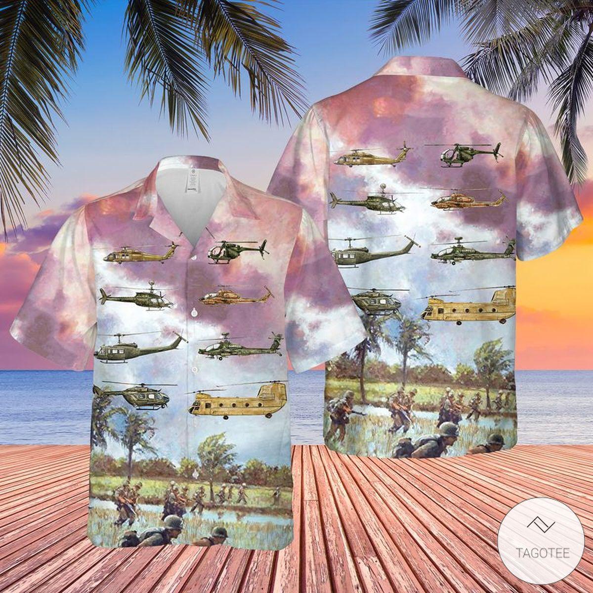 Army Aviation Rotary Aircraft Hawaiian Shirt