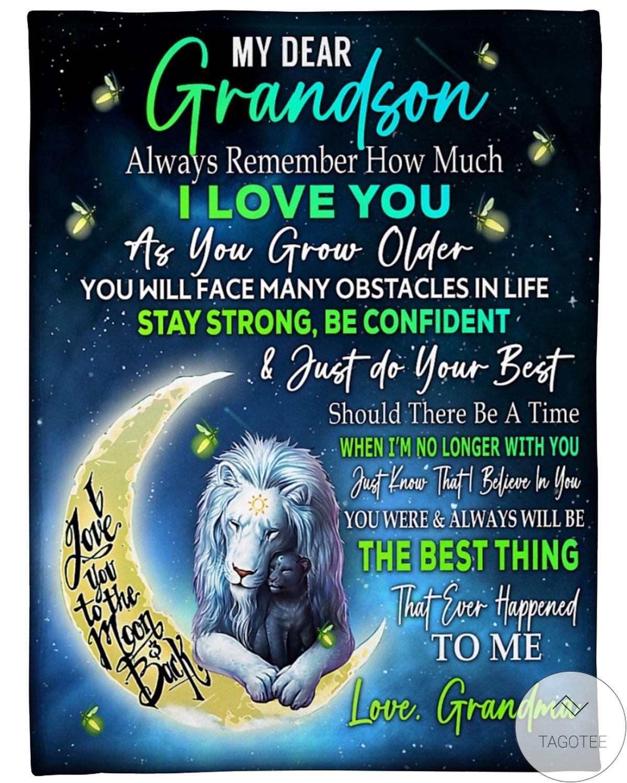 My Dear Grandson Love Grandma Blanket