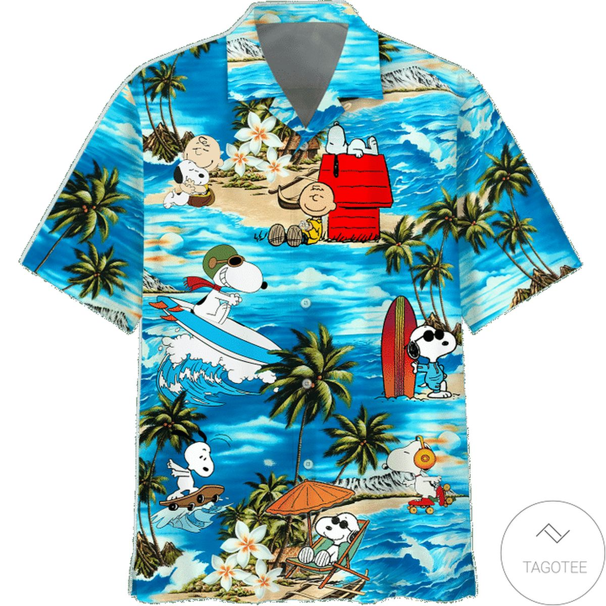 Snoopy And Charlie Brown The Peanuts Movie Aloha Hawaiian Shirt