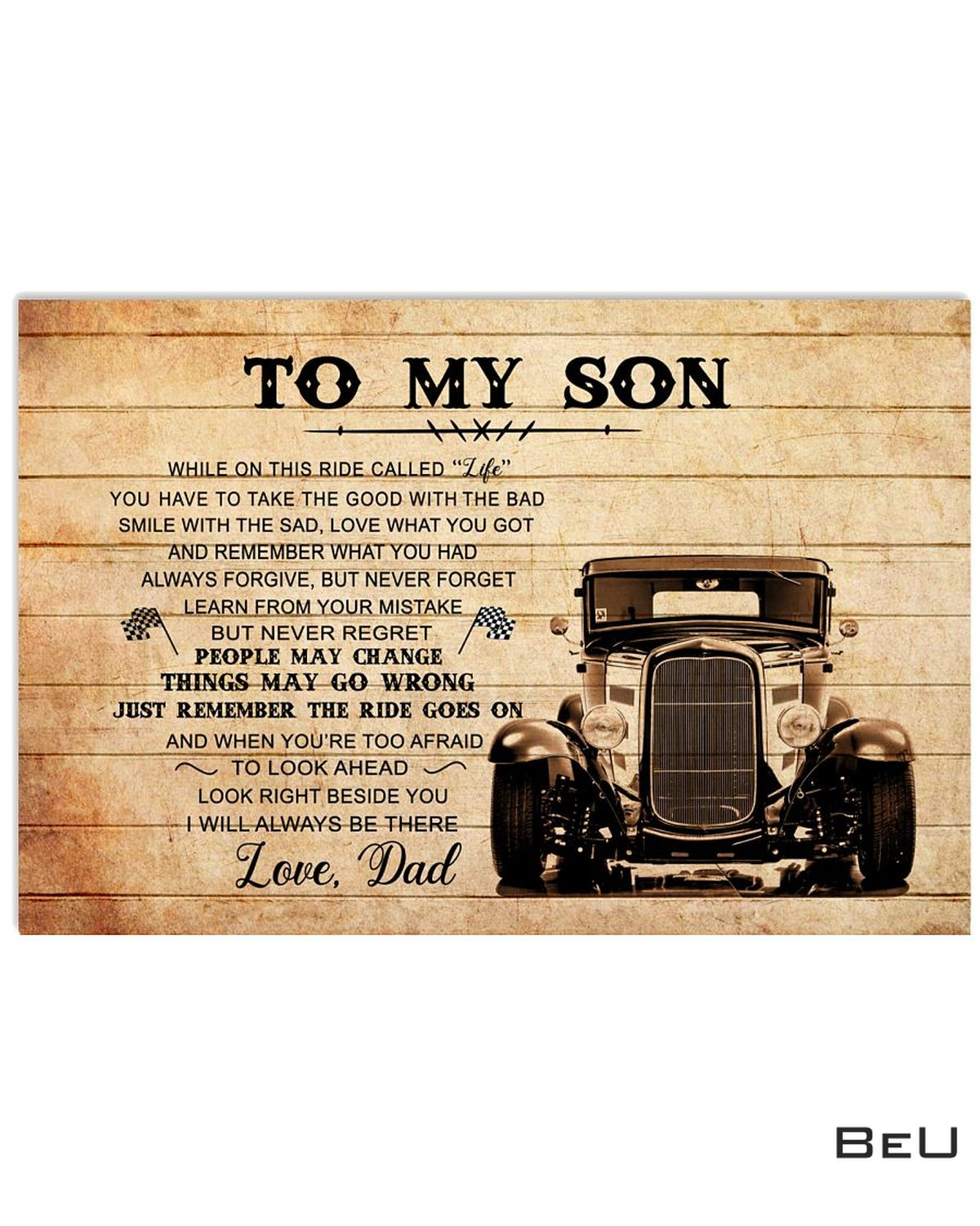 To My Son Love Dad Truck Driver Poster