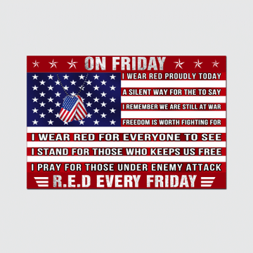 On Friday Red Every Friday Poster